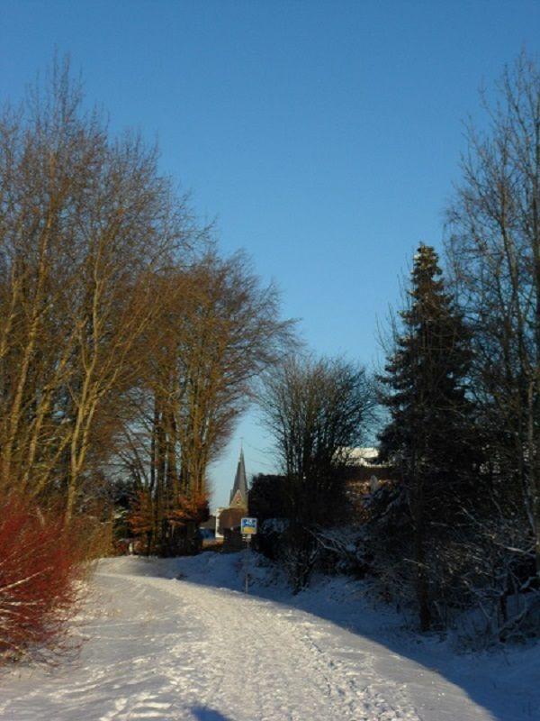 Ravelradweg im Winter