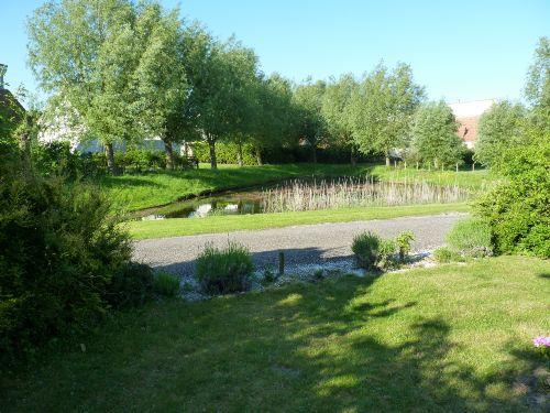 Der Teich vor dem Haus