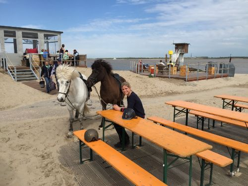 Pause am Elbstrand