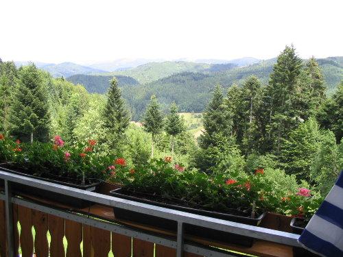 Blick vom Balkon, Ferienwohnung 2