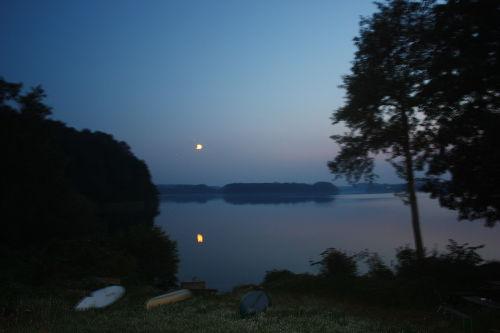 Mondschein am See
