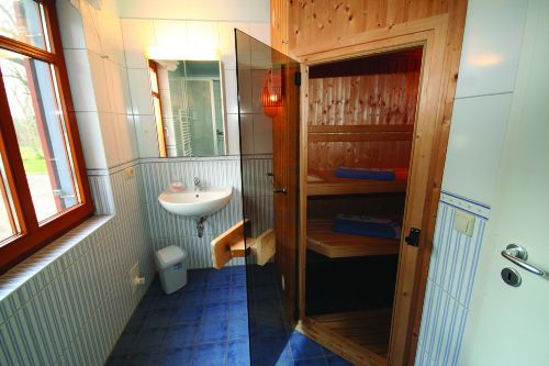 Bad mit DU/WC und Sauna im EG