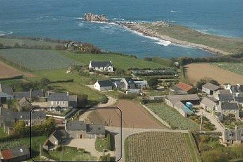 Luftbild mit Lage des Hauses