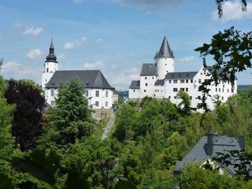 Kirche und Schloss in Schwarzenberg