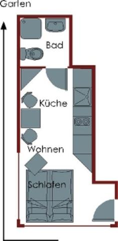 Ferienwohnungen Wittke Westerland, 1-Zimmerwohnung