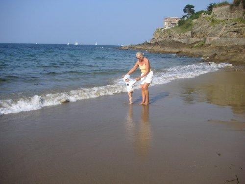 Hausansicht vom nächsten Strand aus