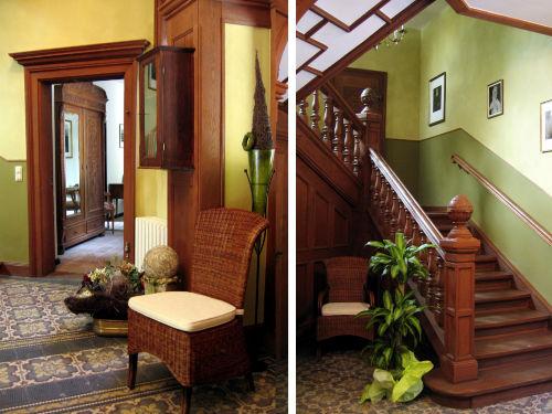 Flur im Palais mit Treppe zu den Fewos