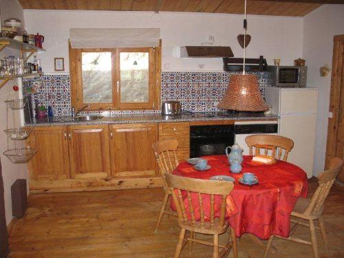 Die Küche und die Essgruppe