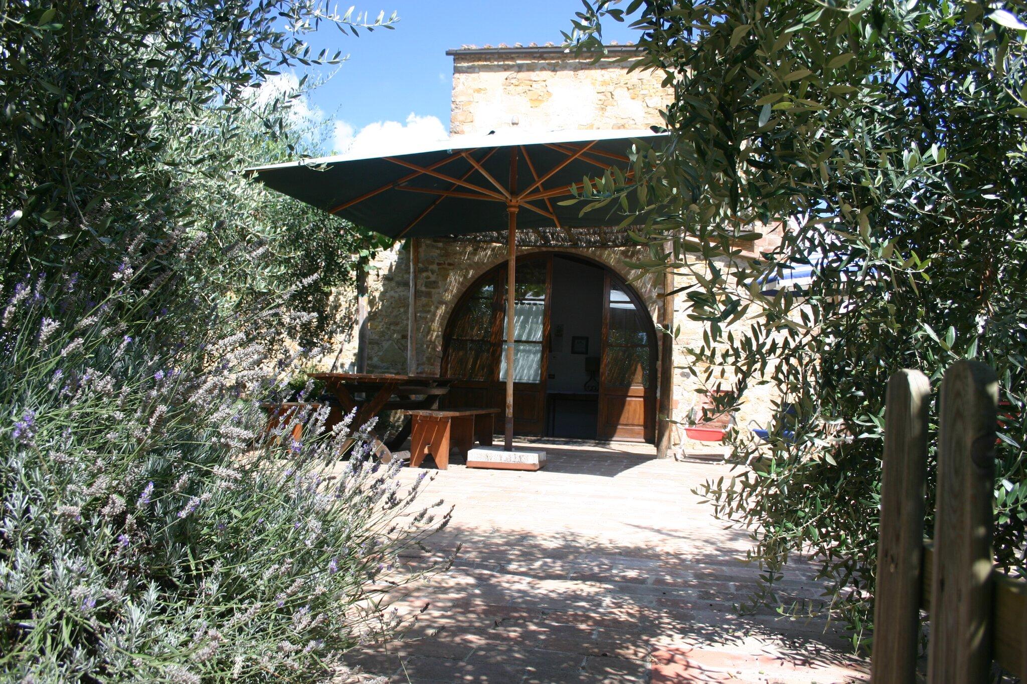 Ferienhaus AIA von der Terrasse aus