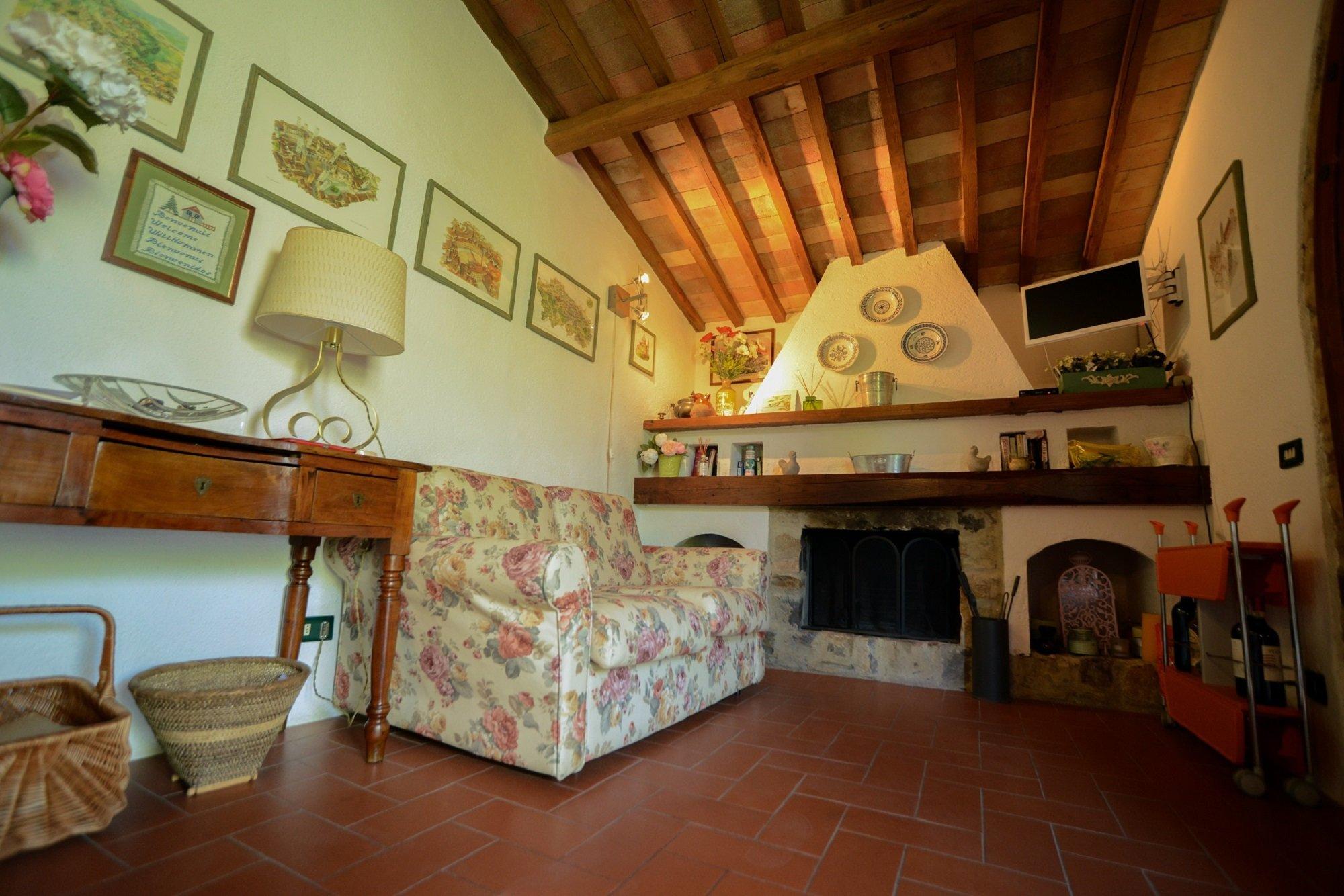 Toskanische Landschaft in Chianti