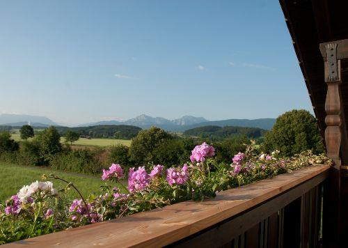 Panoramablick vom Balkon aus
