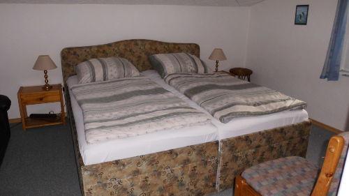 Schlafbereich der Ferienwohnung 2. Etage