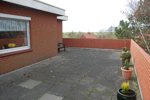 Dachterrasse mit Blick nach Langeoog