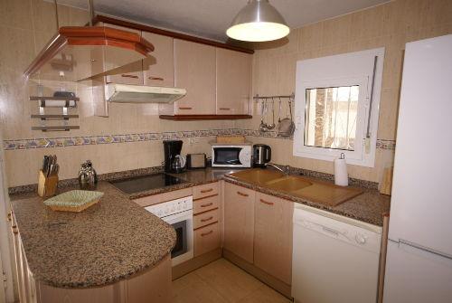 Küche in der unteren Wohneinheit