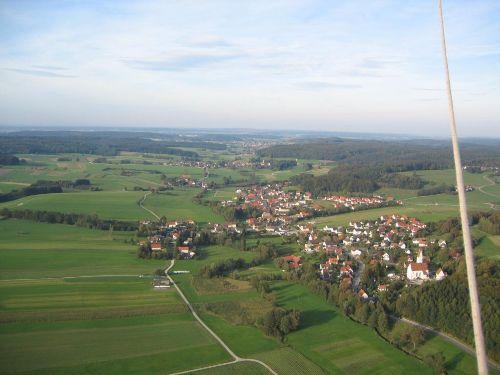 Blick �ber Augsburg Westliche W�lder