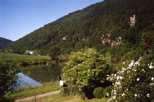 Garten mit Blick auf Burg Schwalbennest