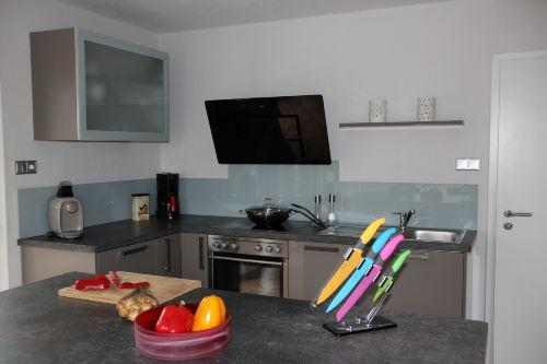 Offene Küche mit Arbeitsblock