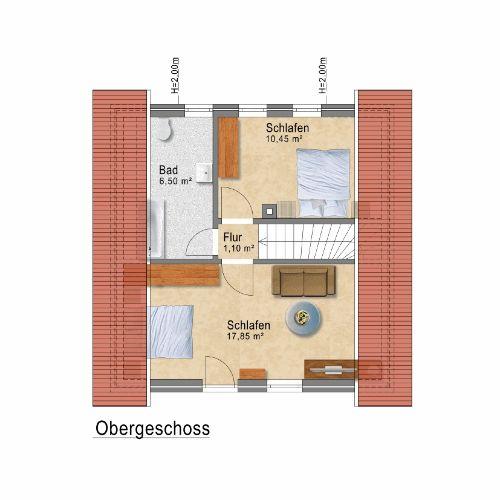 Ferienhaus Müritzblick - Obergeschoss
