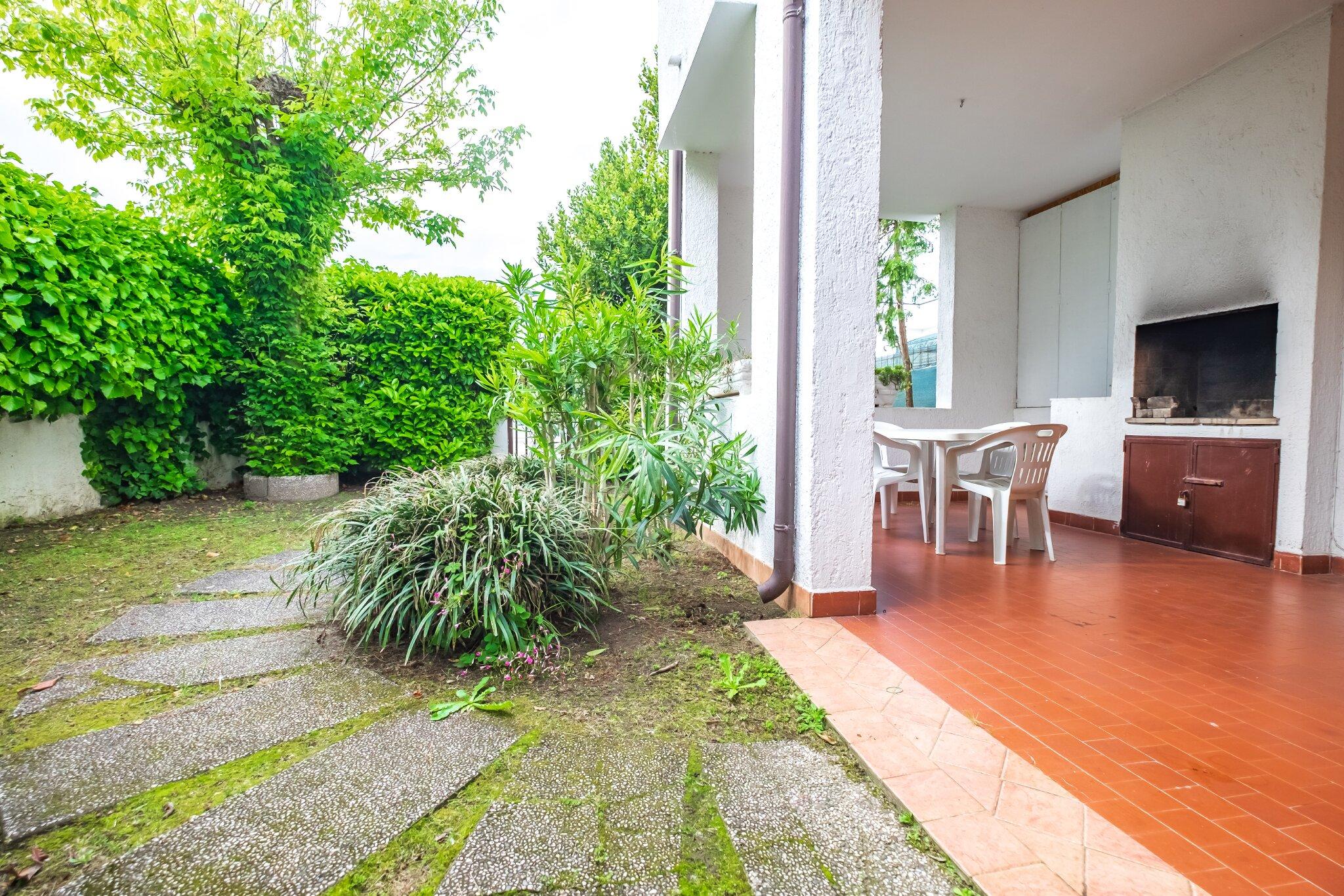 Der Garten mit privatem Eingang