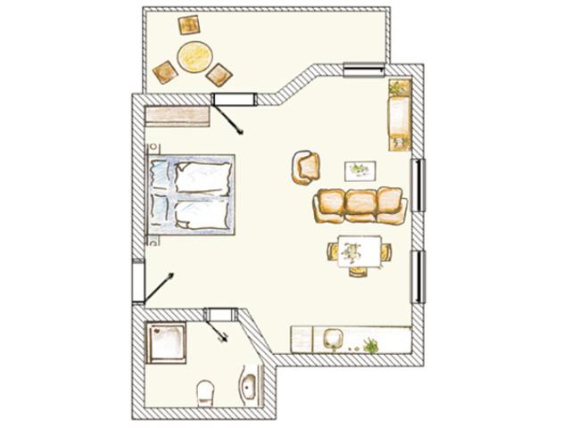 (Brise) Villa Frieda, Frieda 1-Zi App. 8