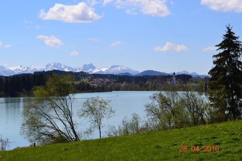 Lechsee mit Blick auf Lechbruck