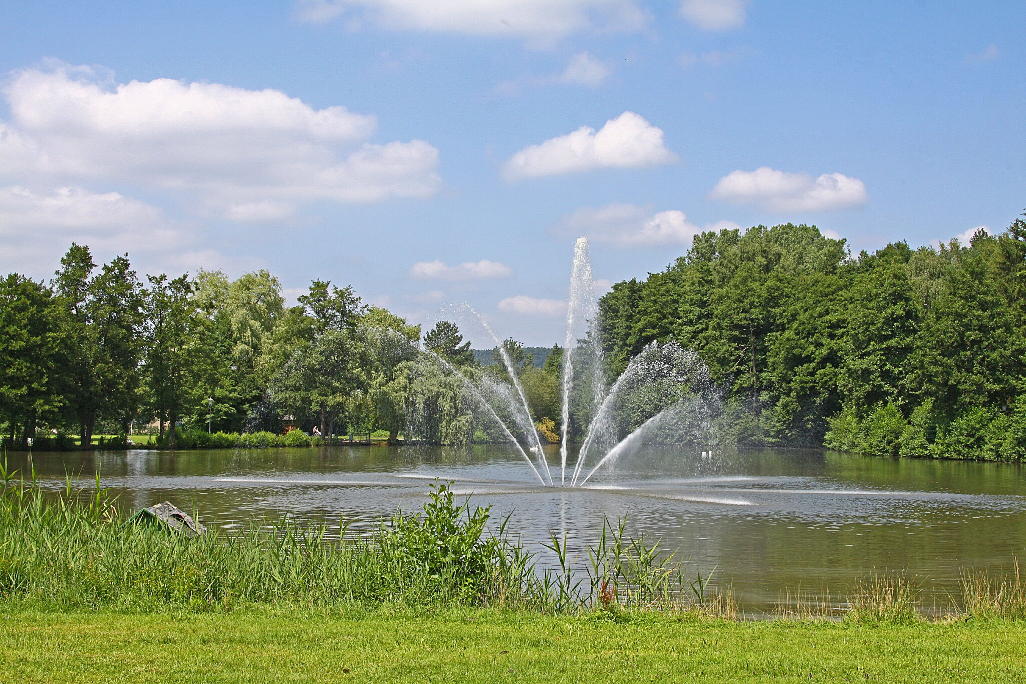 Großer Kurpark in Bad König Fontaine