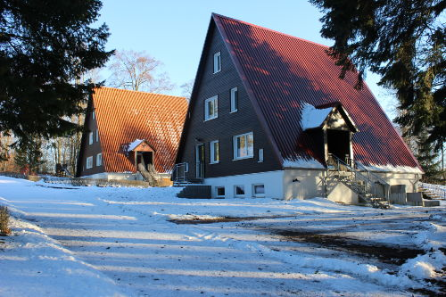 Blick auf Finnhäuser