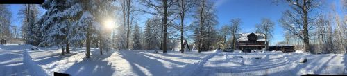 Winterpanorama Dambachhaus & Finnhäuser