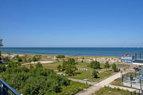 Blick auf die Ostsee von der Terrasse