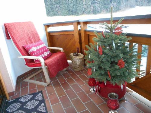 Balkon in Weihnachtsstimmung