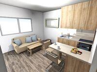 Nianthy  Apartments, Apartment 3 für 2 & 1 Personen B-OG in Faliraki - kleines Detailbild