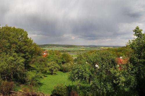 Blick vom Haus �ber das Maintal