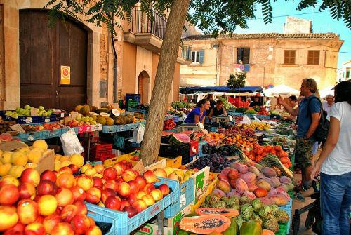 Wochenmarkt Santanyi