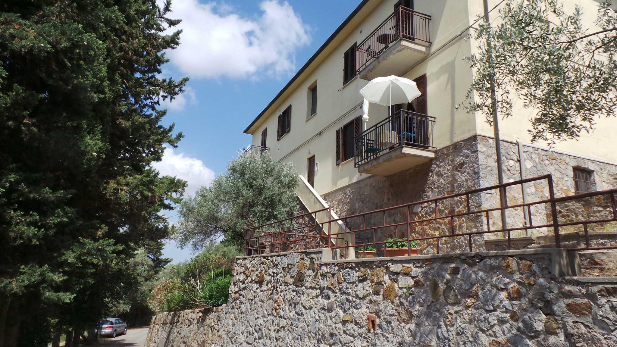 Ausblick vom Balkon auf Elba & Scarlino
