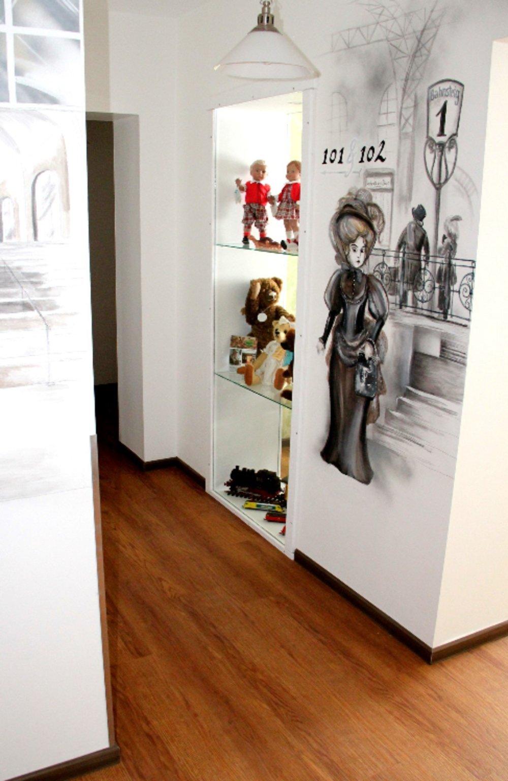 Spielzeughotel, Doppelzimmer mit Schlafsofa