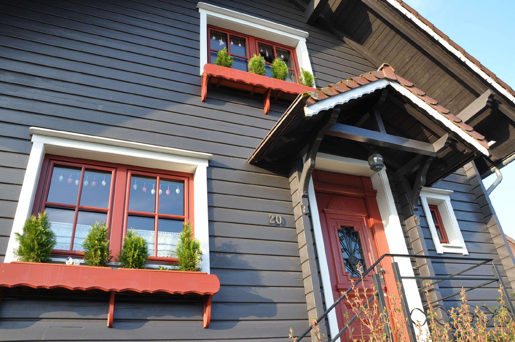 Detailbild von Hexenstubenhaus - Blockbohlenhaus