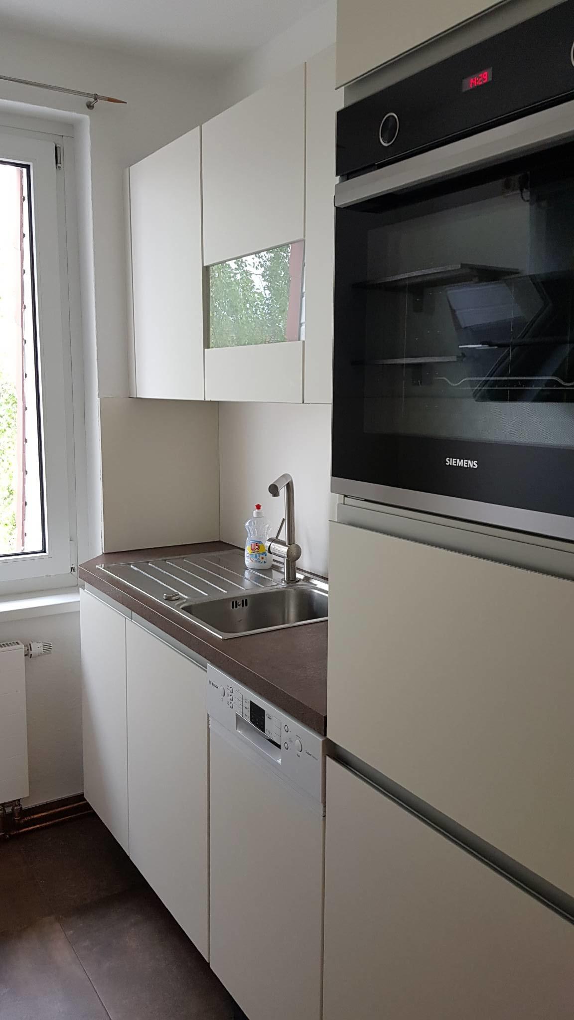 Blick in die separate Küche
