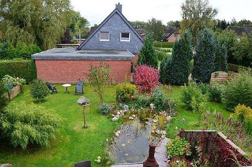 Blick auf unseren Garten