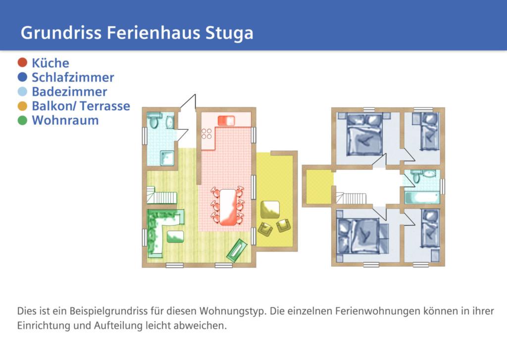 Ferienhaus Stuga, Haus: 110m²; 4-Raum; 6 Pers; Ter