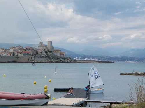 Meerblick auf Altstadt Antibes