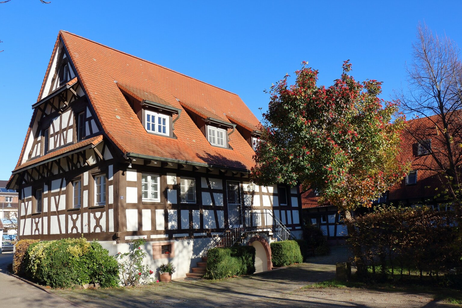 Fachwerkhaus mit Sicht zum Innenhof
