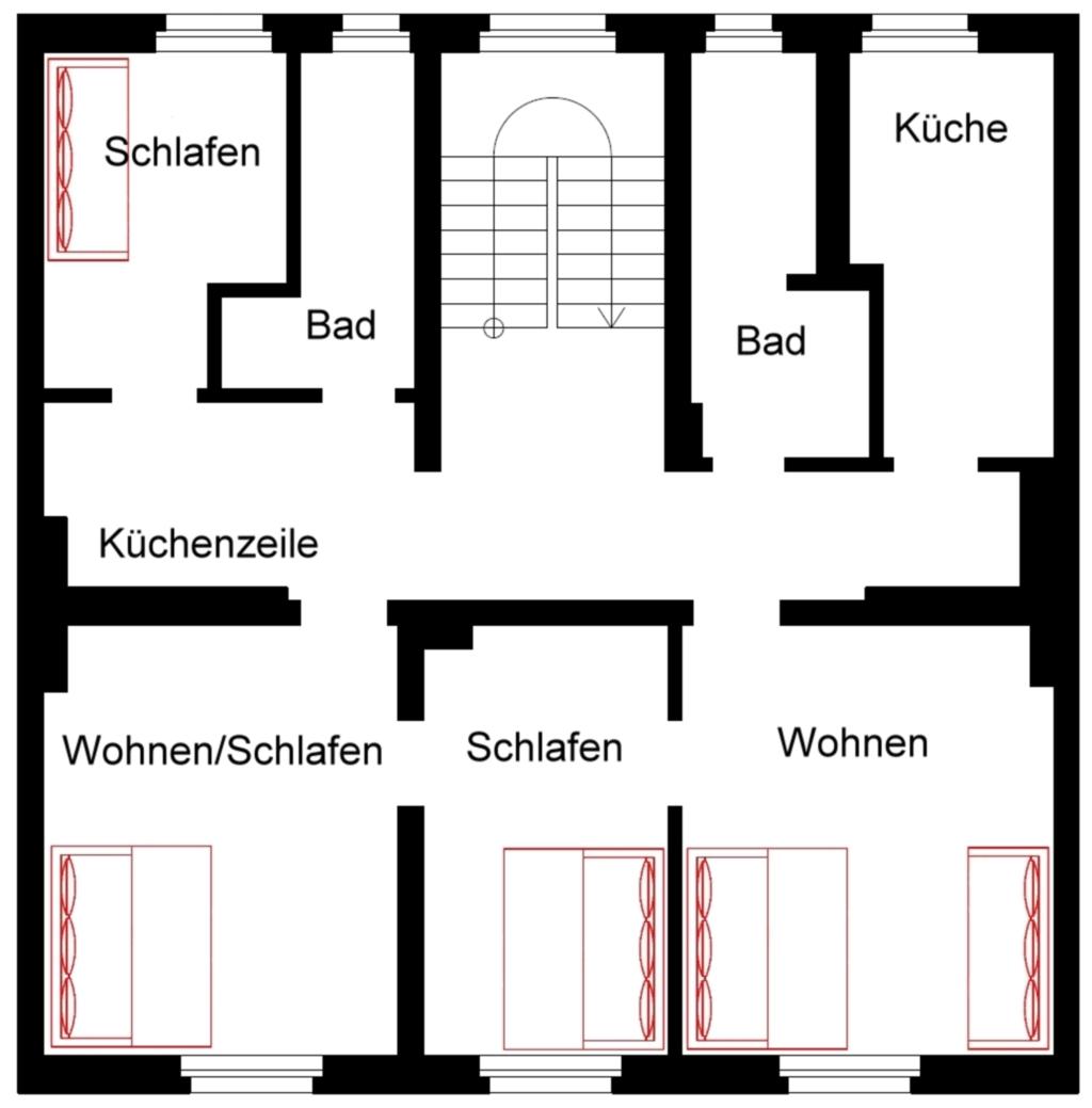 Ferienwohnung Sembach, Wohnung A 3.OG-rechts