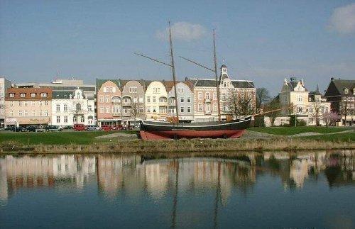 Die Innenstadt von Cuxhaven