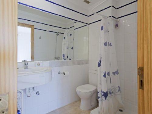 Dusche und WC im 1.Schlafzimmer