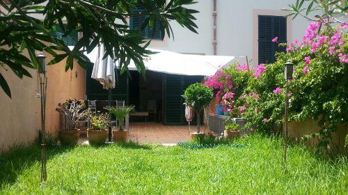 Das Gärtchen und die Terrasse