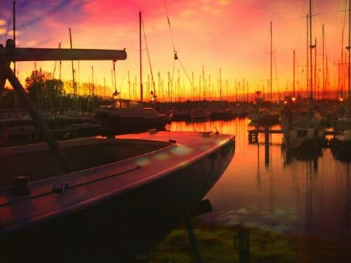 Abendstimmung im Hafen von Scharendijke