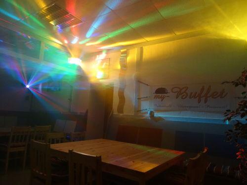 Der Eventclub bei Nacht.