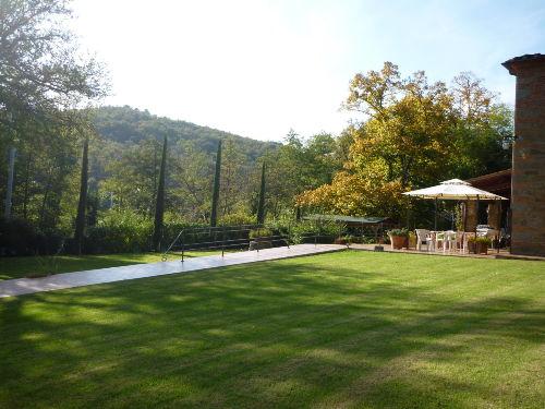 Der untere Garten mit Terrasse