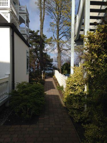 Vom Apartment an die Strandpromenade