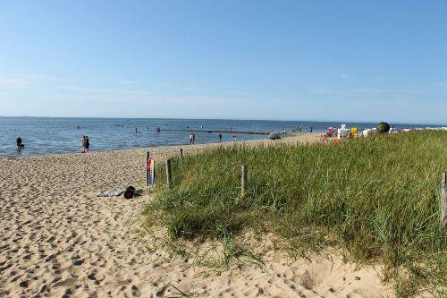 Strand in Sahlenburg vor der Surfschule